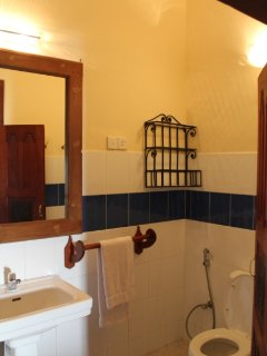 ground floor 2 bedrooms each has an attached bathroom, rainfall shower. hot cold water