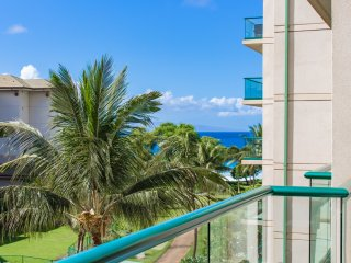 A spacious 1 bedroom suite with partial ocean views