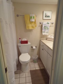 Master bath with full tub/shower, new toilets.