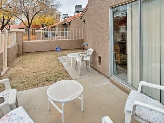 You'll love the beautiful landscaping that surrounds this quiet condo complex.