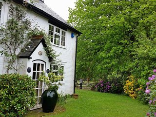 Rose Cottage, New Forest, with free leisure passes. Dog and child friendly.