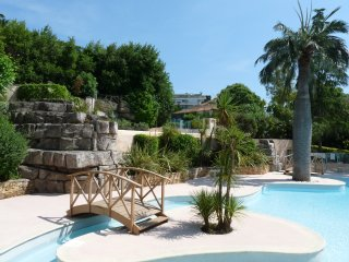 Accommodation with terrace and pool located in center of Cannes walking