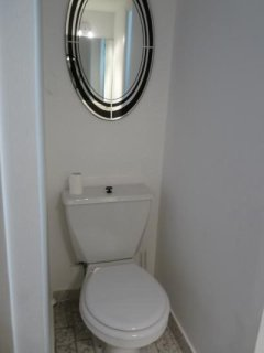 The second bathroom toilet