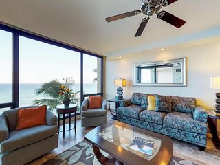Waterfront condo with shared pool, hot tub, & gorgeous sunset views