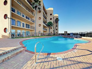 2BR w/ Oceanview Deck, Pool, Hot Tub, Steps to Private Beach Suntide II