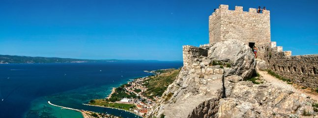a view of the town of Omis from fortress Fortica