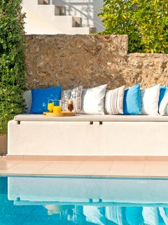 Nice and big sofa bed ! Enjoy your day relaxing by the pool !