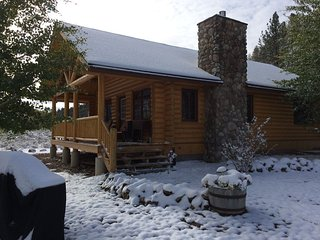 The Eagle's Nest is a high end cabin overlooking Rock Creek