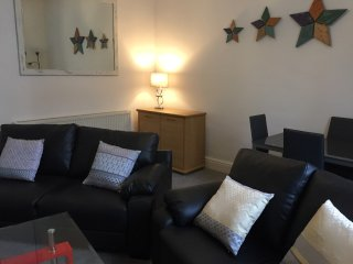 Nice bright lounge area with modern decor