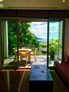 Livingroom With Sliding Doors To Terrace.