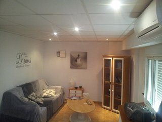 Lounge area with FreeSat (All English channels) & Air Con and blow heating
