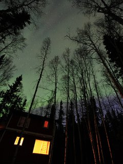 Aurora above the cabin