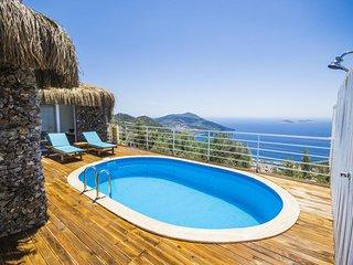 Secluded Honeymoon Villa in Kalkan,with Spectacular Views, Sleeps 2