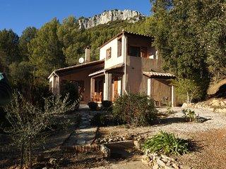 VILLA  LUMINEUSE 100 m2  terrasse et jardin arboré sur les hauts de Tourris
