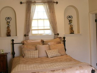 Queen size bed for two.