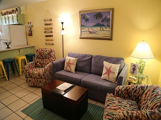 Sunrise Village 212 - Renovated, Bright Colors, Steps to the beach! FREE Wifi -
