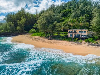 Private Beachfront House w/Spectacular Ocean Views! Haena Beach House TVNC #1258