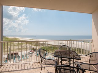 2 Bed/Bath with Gulf Views, Private Balconies, Washer/Dryer, and Shared Pool
