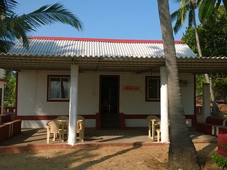 Beach Villa- Front view. Beach is just 200 mtrs. behind the Villa