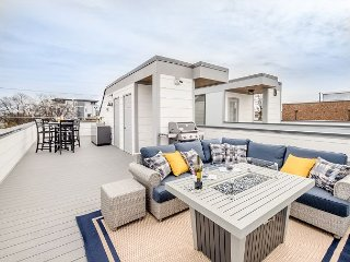 New Upscale 3BR Home w/ Epic Rooftop Deck & Designer Interior