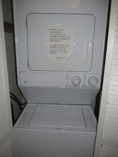 Washer and Dryer Right in the Unit.....