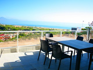 "Luxury apartment with fantastic sea view, heated pool and jacuzzi""s"