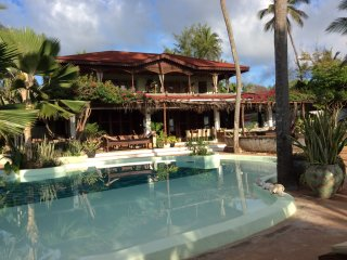 PRIVATE  LUXURIOUS  VILLA ,   ON  THE  BEACH , fully staffed !