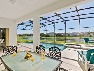 magnificent pool deck - quality pool furniture - acres of space - fully South facing