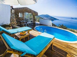 Secluded Honeymoon Villa in Kalkan,with Spectacular Views, KAV143-1