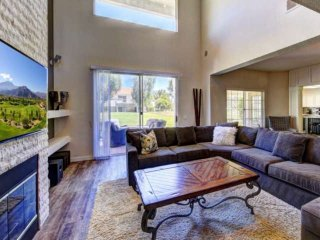 Newly Remodeled - Luxury at Desert Falls! Fire Table with chairs are Perfect