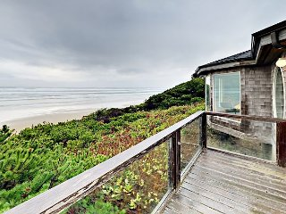 Stunning Oceanfront Home with Fire Pit, Fireplace & Balcony | Steps to Beach