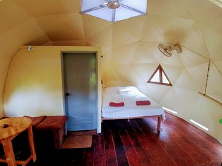 Unique 'One Love Dome' cabin with private backyard