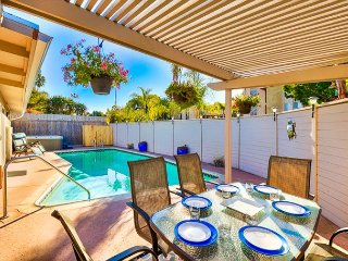 Updated Home w/ Pool, Jacuzzi, Short Walk to Beach & Shops