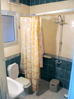 bathroom double deluxe room.