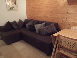 Corner double sofa bed and extendable dining table
