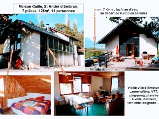 Grande maison EMBRUN, 7 pieces: ski, lac, soleil !