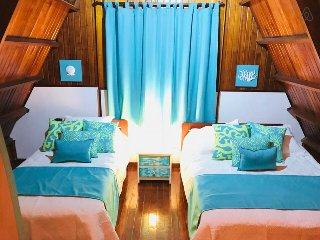 Three Floored, Wooden Cabin in San Andres