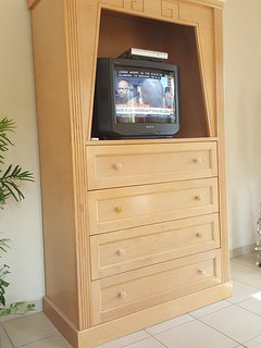 Living Room TV with DVD player