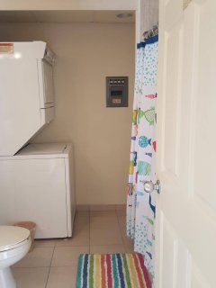 Second Bathroom with Washer/ Dryer Combo