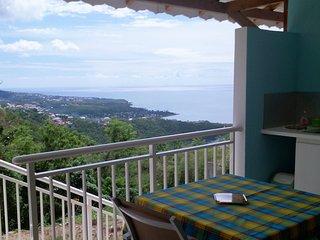 Cote Caraibes : Gite Azur avec vue spectaculaire entre mer et foret tropicale