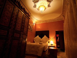Double Bed Room at Riad Layalina: Pool, 360° View & Free Secure Parking at Foot