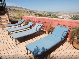 Double Bed Room at Riad Layalina: Pool, 360° View & Free Secure Parking at Foot