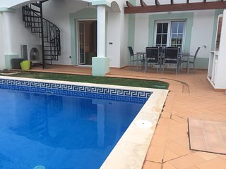 Beautiful villa with fabulous views of the golf course and own pool.