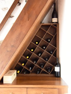 Selection of local wines for your convenience at shop prices, to be paid for.