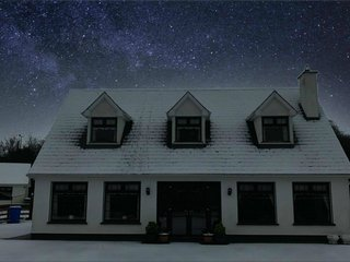 A quick snap by a neighbor just after snowfall.  No special effects - just stars.