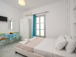 Naxos deluxe room for 3 ,50m from the beach