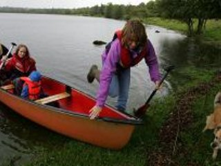 Canoeing at Fenagh lake
