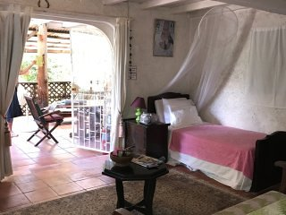Ecofriendly, Rustic Mussaenda Apt, Chi Guest House, location de vacances à Saint Michael Parish