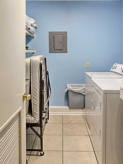 A washer and dryer and rollaway bed are available for your convenience.
