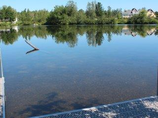Orbite sur la rivière Magog